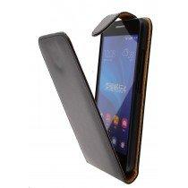 Hoesje Huawei Ascend G620s flip case zwart