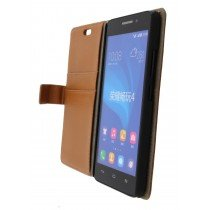 Hoesje Huawei Ascend G620s flip wallet bruin