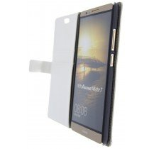 Open - Hoesje Huawei Ascend Mate 7 flip wallet wit