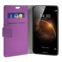 Hoesje Huawei G8 flip wallet paars