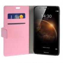 Hoesje Huawei G8 flip wallet roze