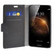 Hoesje Huawei G8 flip wallet zwart