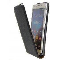Open - Hoesje Huawei Honor 6 flip case dual color zwart