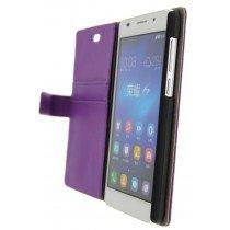 Open - Hoesje Huawei Honor 6 flip wallet paars