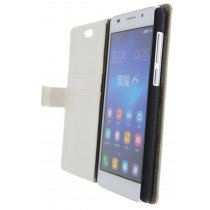 Open - Hoesje Huawei Honor 6 flip wallet wit