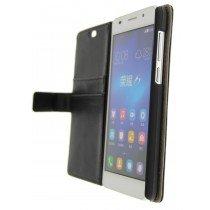Open - Hoesje Huawei Honor 6 flip wallet zwart