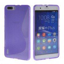 Hoesje Huawei Honor 6 Plus TPU case paars