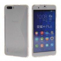 Hoesje Huawei Honor 6 Plus TPU case transparant