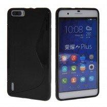 Hoesje Huawei Honor 6 Plus TPU case zwart