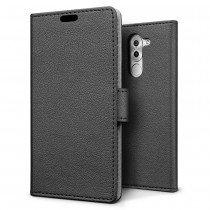 Hoesje Huawei Honor 6X flip wallet zwart