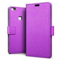 Hoesje Huawei P10 Lite flip wallet paars