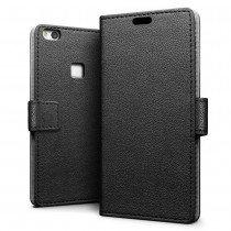 Hoesje Huawei P10 Lite flip wallet zwart