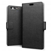 Hoesje Huawei P10 Plus flip wallet zwart