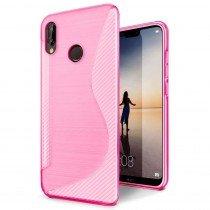Hoesje Huawei P20 Lite TPU case roze