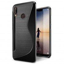 Hoesje Huawei P20 Lite TPU case zwart