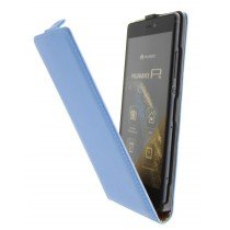 Open - Hoesje Huawei P8 flip case dual color blauw