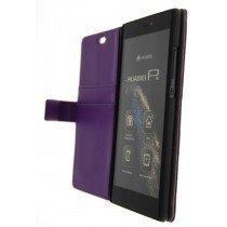 Open - Hoesje Huawei P8 flip wallet paars