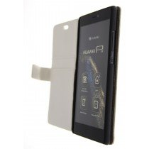 Open - Hoesje Huawei P8 flip wallet wit