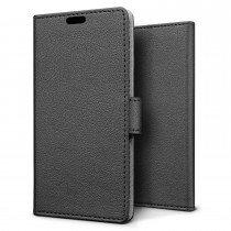 Hoesje Huawei P8 Lite (2017) flip wallet zwart
