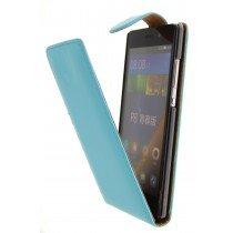 Hoesje Huawei P8 Lite flip case licht blauw