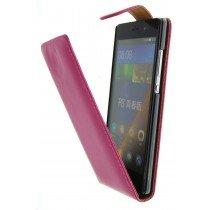 Open - Hoesje Huawei P8 Lite flip case roze