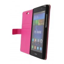 Open - Hoesje Huawei P8 Lite flip wallet roze