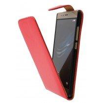 Hoesje Huawei P9 flip case rood