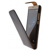 Hoesje Huawei P9 flip case zwart