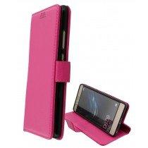 Hoesje Huawei P9 flip wallet roze