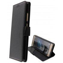 Hoesje Huawei P9 Lite flip wallet zwart