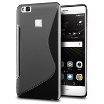 Hoesje Huawei P9 Lite TPU case zwart