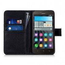 Hoesje Huawei Y625 flip wallet zwart