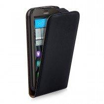 Hoesje Huawei Y625 flip case dual color zwart