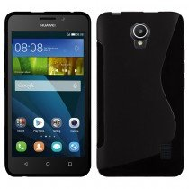 Hoesje Huawei Y635 TPU case zwart