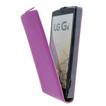 Open - Hoesje LG G4 flip case dual color roze