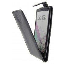 Open - Hoesje LG G4 flip case zwart