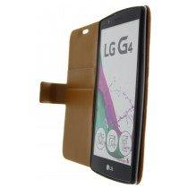 Open - Hoesje LG G4 flip wallet bruin