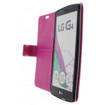 Open - Hoesje LG G4 flip wallet roze