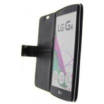 Open - Hoesje LG G4 flip wallet zwart