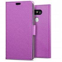 Hoesje LG G5 flip wallet paars