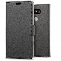 Hoesje LG G5 flip wallet zwart