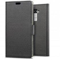 Hoesje LG K10 flip wallet zwart