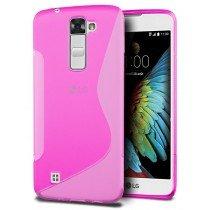 Hoesje LG K10 TPU case roze