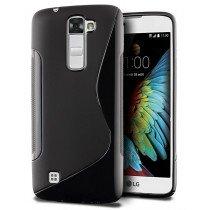 Hoesje LG K10 TPU case zwart