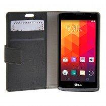 Hoesje LG Leon flip wallet zwart