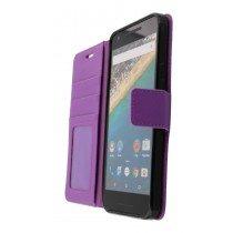 Hoesje LG Nexus 5X flip wallet paars - Open
