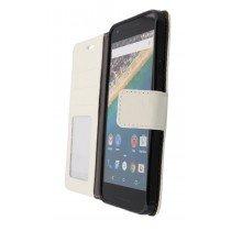 Hoesje LG Nexus 5X flip wallet wit - Open
