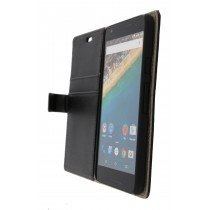 Hoesje LG Nexus 5X flip wallet zwart - Open