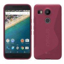 Hoesje LG Nexus 5X TPU case roze
