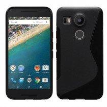 Hoesje LG Nexus 5X TPU case zwart